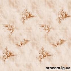 МДФ панель влаг. Букет цветов изумруд 1,22*2,44м*3мм