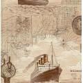 Обои винил Rasch 821918 корабли беж  (0.53*10м)