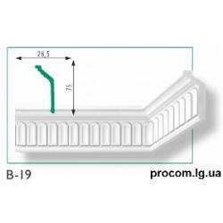 Плинтус потолочный Марбет Exclusive B-19 (2м) резной