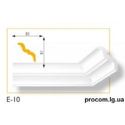 Плинтус потолочный Марбет Lux E-10 (2м) гладкий