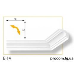 Плинтус потолочный Марбет Lux E-14 (2м) гладкий