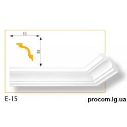 Плинтус потолочный Марбет Lux E-15 (2м) гладкий