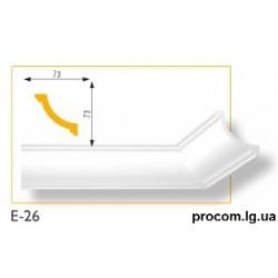 Плинтус потолочный Марбет Lux E-26 (2м) гладкий