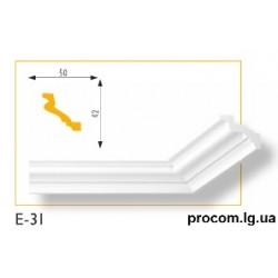 Плинтус потолочный Марбет Lux E-31 (2м) гладкий