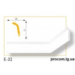 Плинтус потолочный Марбет Lux E-32 (2м) гладкий