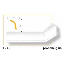 Плинтус потолочный Марбет Lux E-33 (2м) гладкий