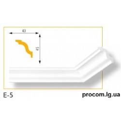 Плинтус потолочный Марбет Lux E-5 (2м) гладкий