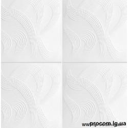 Плитка потолочная Солид 2040 белая (50*50см)