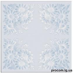 Плитка потолочная Солид 516 голубой (50*50 см)