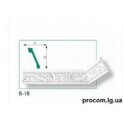 Плинтус потолочный Марбет Exclusive B-18 (2м) резной