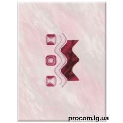 Декор Самба 25*35 розовый