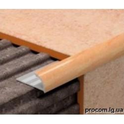 Уголок для плитки наружный (однотонный) 7 мм, 9 мм