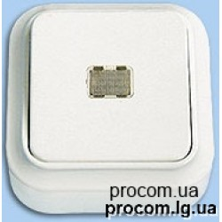 Выключатель 1-но клавишный наружный с подсветкой А110-214 Беларусь