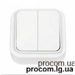 Выключатель 2-х клавишный  наружный А56-134 Беларусь