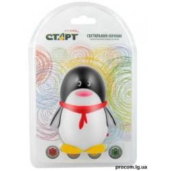 Ночник СТАРТ 1 LED Пингвин черный