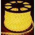 Дюралайт 2 полюса 13мм жёлтый