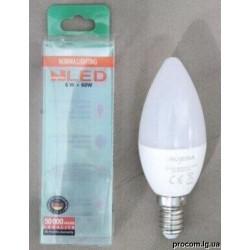 Лампа OSH С37  6W E14 160ш 4000К