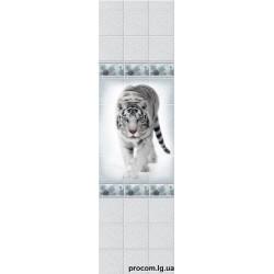 Панель пластиковая 250мм*2700мм*9мм Зимняя сказка Тигр