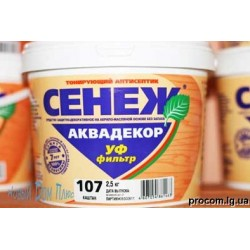 Сенеж Аквадекор тонирующий антисептик 0,9 кг бесцветный
