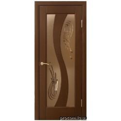 Дверь шпон Модель 15 (60,70) стекло