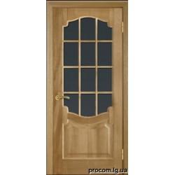 Дверь шпон модель 09 (60,80) стекло