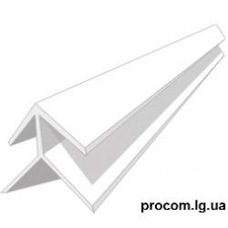 Угол внутренний, наружный, (длина 6м) 8 мм белый