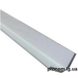 Угол пластиковый 25*25мм (длина 6 м) 8 мм белый