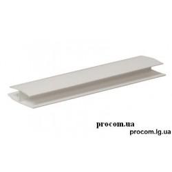 Профиль соединительный (длина 6м) 8 мм белый
