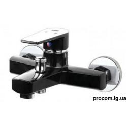 Смеситель для ванны PLAMIX Oscar-009 черн без шланга и лейк