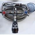 Смеситель для ванны двурукий TROYA DFR7-B722 пл гусак