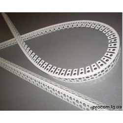 Угол перфорированный арочный пластик