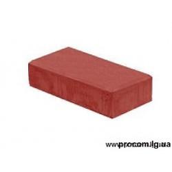 Тротуарная плитка Кирпич 20х10х4,5 см Красный АКЦИЯ!!!