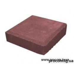 Тротуарная плитка Квадрат 20х20х4,5см Красный АКЦИЯ!!!